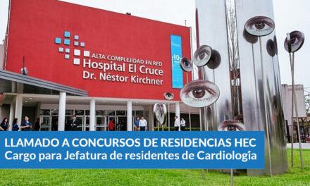 Cargo para Jefatura de residentes de Cardiología HEC