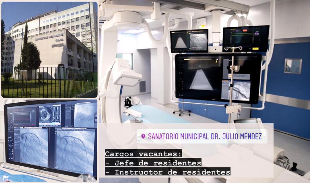 Cargos vacantes en el Sanatorio Municipal Dr. Julio Méndez