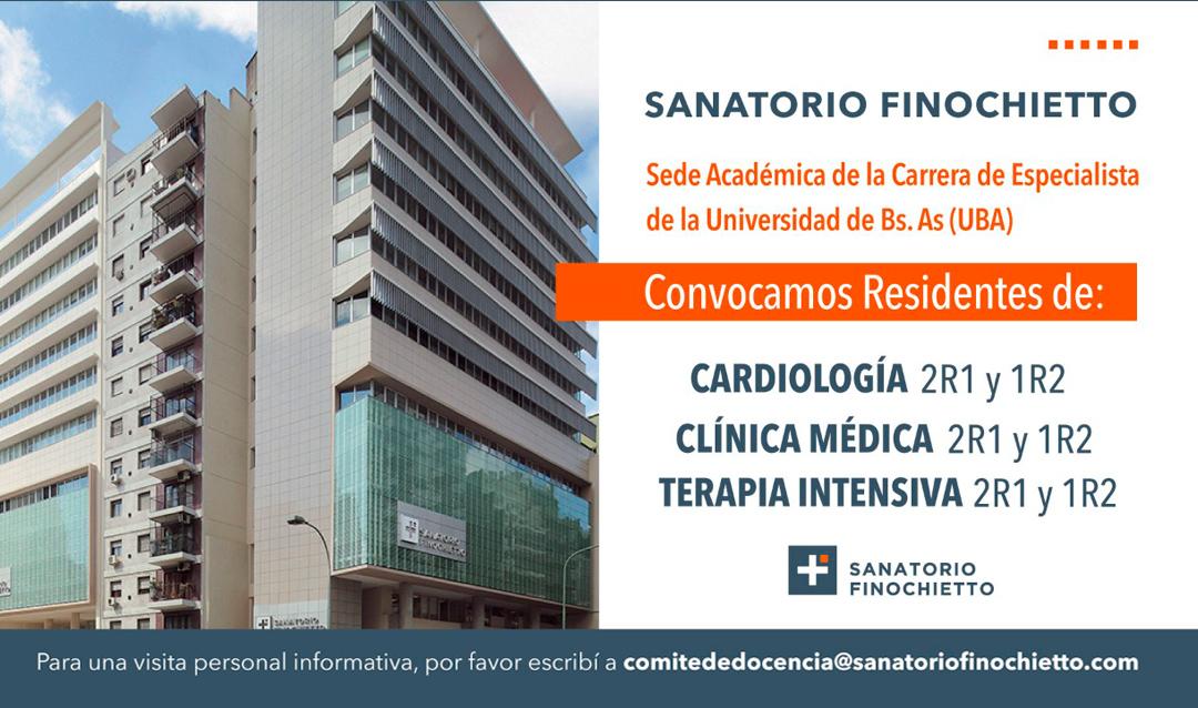 Sanatorio Finochietto convocatoria a residentes